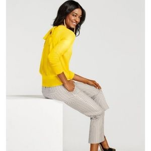 CAbi Canary Yellow Tie Pull On Sweater